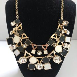New Kate Spade Black and White Statement Necklace
